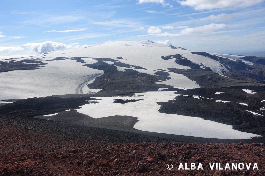 Durante el trek en Fimmvörduháls: Vistas desde el volcán Eyjafjalla - Islandia - Viajar - Blog de Alba Vilanova