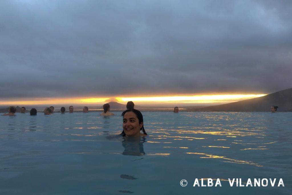 Bañándome en el balneario geotermal Mývatn Nature Baths - Islandia - Viajar - Blog de Alba Vilanova