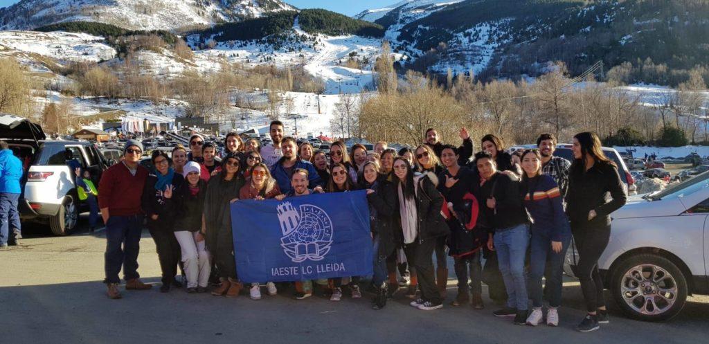 En una esquiada organizada por el grupo de eventos de IAESTE LC Lleida - Trabajar en el extranjero - Blog de Alba Vilanova