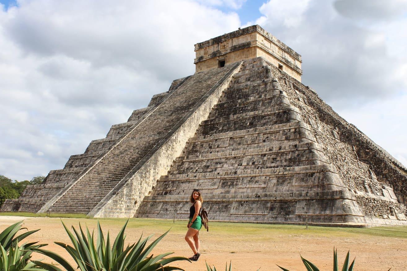 Visitando Chichen Itza en Yucatán @ Cedida por Verónica González - Estudiar - México - Blog de Alba Vilanova
