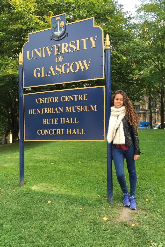 En la Universidad de Glasgow @ Foto cedida por Roser Vales - Reino Unido - Estudiar en el extranjero - Blog de Alba Vilanova