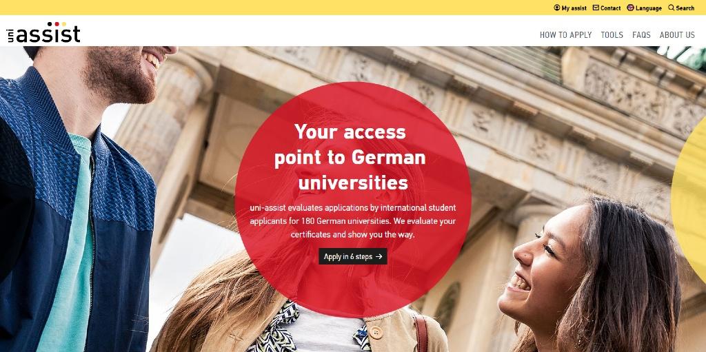 Página de inicio de Uni Assist e.V. - Alemania - Estudiar en el extranjero - Blog de Alba Vilanova